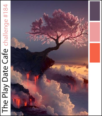 The colors - Smoky Plum, Cherry Blossom and Lava